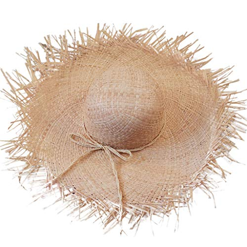 ens Hawaiian Fancy Dress Party Erwachsene Straw Edges Hut billig für Fancy Dress Party Zubehör Wide Brim Chic Sonnenhut ()
