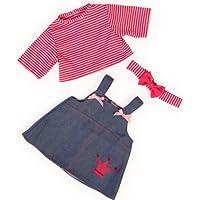 Bayer Design 83853 - Vêtement Pour Poupée - Habit Poupon - Ensemble Robe Du Jean + T-shirt - 38 Cm