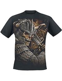 Viking Warrior Camisa trabajo sin mangas Negro Spiral