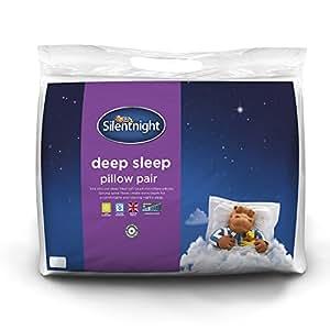 Silentnight Deep Sleep Pillow - White, Pack of 2