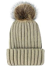 ZXGJMZ Color sólido Gorras de Invierno Sombrero de Punto para Mujer Sombrero  de esquí Femenino para 112b324ea8b