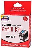 Turbo refill kit for HP 803 black ink ca...