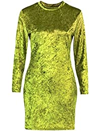 f3096c42707e66 Kleid damen Kolylong® Frauen Elegant Samt Langarm Kleid Herbst Winter Slim  Fit Kleid Vintage Pullover Kleid Minikleid Bodycon Partykleid…