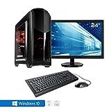 Sedatech Pack complet PC Gamer Expert Intel i5-7400 4x 3.00Ghz (max 3.5Ghz), Geforce GTX1060 3Go, 8Go RAM DDR4, 250Go SSD, 1To HDD, USB 3.0, Wifi, HDMI2.0, DirectX 12, VR Ready, Alim 80+. Unité centrale avec moniteur TFT-LED 23.6', clavier & souris et Windows 10 64 Bit