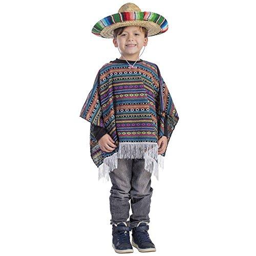 Dress up America Mexicano Poncho Traje Kid 4 - 6 años