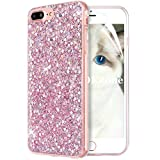 OKZone iPhone 8 Plus Hülle,iPhone 7 Plus Hülle, Luxus Glitzer Bling Design Weich TPU Handy Tasche Rückseite Hülle Etui Cover TPU Bumper Schale für Apple iPhone 7 Plus/iPhone 8 Plus (Rosa)