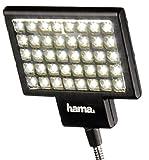 Hama LED-Foto/Video-Slim Panel 40 für digitale Video- und Fotokameras mit Blitzschuh, Mit flexiblem Haltearm, Schwarz