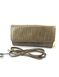6e49ae2e8d Frandi [N4319] - Sac pochette cuir 'Frandi' marron taupe (2 soufflets
