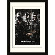 Batman - The Dark Knight Rises, Three Póster De Colección Enmarcado (40 x 30cm)