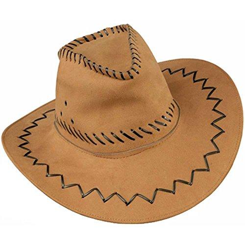 Cowboy Kostüm Forum - Forum Novelties Suede Cowboy Hat (Hüte & weitere Kopfbedeckungen)