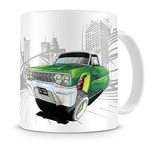 KOOLART Cartoon Caricature of Americana Chevrolet Impala Lowrider - Coffee