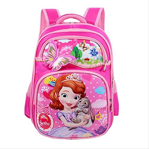 RERU Kinderrucksack Neue Orthopädische Atmungsaktive Sofia Schul Kinder Cartoon Schule Taschen Für Mädchen Schule Rucksäcke Sofia pink
