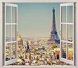 Pegatinas 3D Vinilo ventana Varias Medidas 150x130cm | Adhesivo Incluido | Decoracion Habitación...