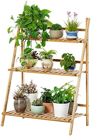 HJ support à fleurs Yxsd Stratifié Bambou Fleur Pot Pot Pot Rack Balcon  Salon Intérieur Fleur 9ccb2902b14