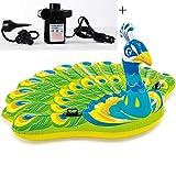 GYFY Pavone Adulto Nuoto Anello Super Pavone Acqua Gonfiabile Galleggiante di Modo Anello di Nuotata (Inviare Auto Gonfiabile Pompa pneumatica Dual-Use)