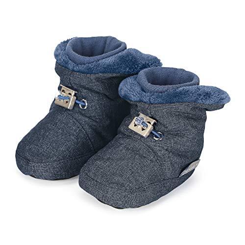 Sterntaler Jungen Baby Stiefel mit Klettverschluss, Farbe: Tintenblau melange, Größe: 19/20, Alter: 12-18 Monate, Artikel-Nr.: 5101832