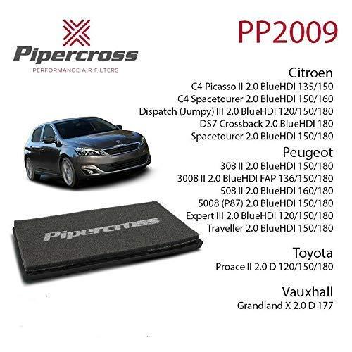 Pipercross Filtre à Air pour Citroen Peugeot Toyota Opel PP2009