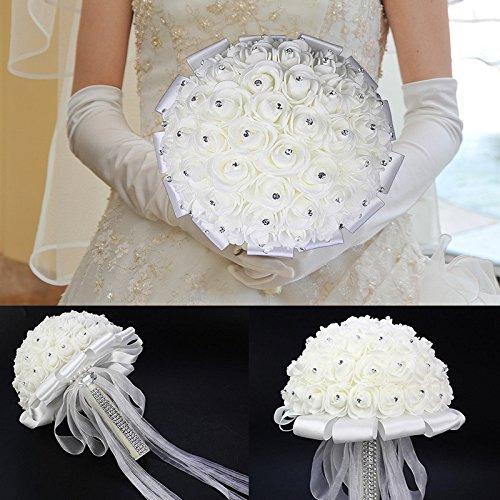 ZZH-Brautstrauß-Plastikblumen-Hydrangea-Seidenblumen Für Hochzeit