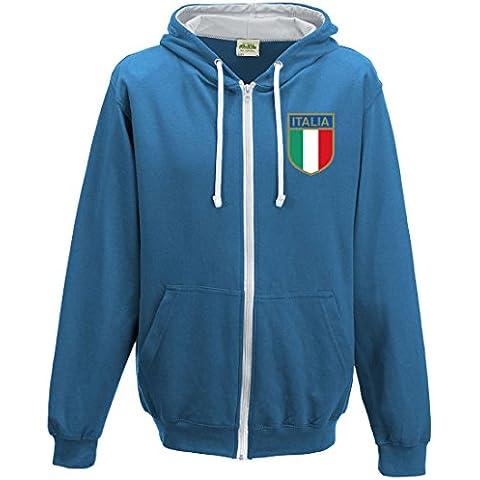 In Italia da rugby-Felpa con cappuccio e