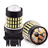 LncBoc 3157 Led Bulbs 1800LM 78SMD 3014 Chipsets with Projector Lens 3156 3056