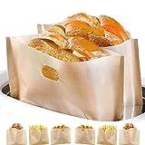 Non-Stick Wiederverwendbare Toastabags LFGB Zertifizierung Sandwich-Bag Waschbar 6 Stück Teflon Toaster Beutel für Toast Sandwich Pizzastücke Snacks Chicken Nuggets, Anzug für Mikrowelle Grill Toaster