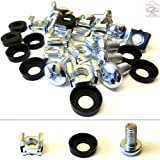 20 Pack of M6 Cage Nuts Screws Washers 19