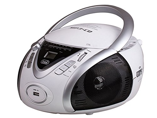 BOOMBOX TREVI CMP 542 CD MP3 INGRESSO USB STEREO RADIO AM FM LCD BOOM BOX BIANCO