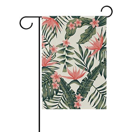 elblatt Vintage Blumenmuster 30,5 x 45,7 cm Banner doppelseitig für Rasen Hof Outdoor Dekoration, Polyester, Image 204, 28x40(in) ()