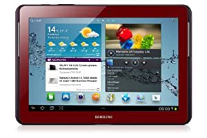 Samsung Galaxy Tab 2 GT-P5110GRADBT WiFi only Tablet (1GHz Dual Core Prozessor, 25,7 cm (10,1 Zoll) Display, 3,2 Megapixel Kamera, 16GB Speicher, WiFi, Android 4.0) garnet-red