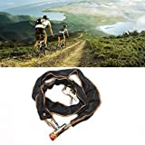 Gaddrt moto scooter bicicletta Heavy Duty Chain Lock da bici motore bicicletta catena Pad Lock nero