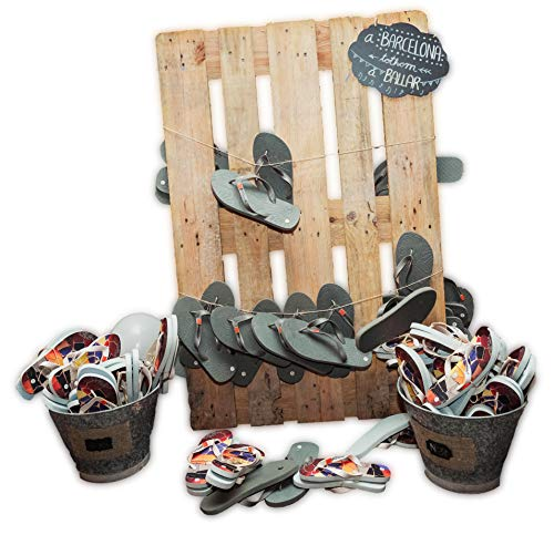 Pack Lote Chanclas Boda Hombre Mujer Barcelona