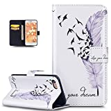 Coque iPhone 8,Coque iPhone 7,Bookstyle Coloré Lettres Relief Housse Cuir PU Housse...