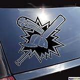 Baseballschläger Ball Kappe Logo Emblem Aufkleber ca. 20 cm Autoaufkleber Tuningaufkleber von SUPERSTICKI® aus Hochleistungsfolie für alle glatten Flächen UV und Waschanlagenfest Tuning Profi Qualität Auto KFZ Scheibe Lack Profi-Qualität Tuning