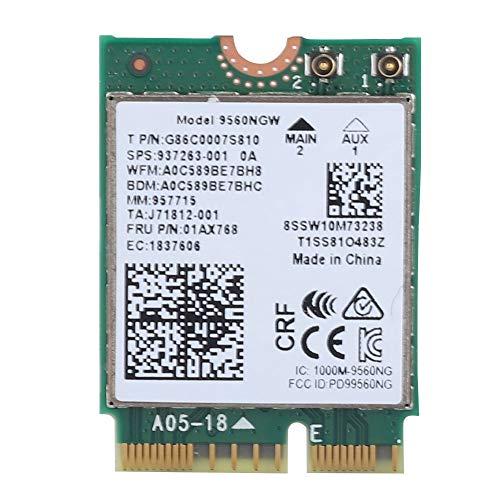 Pokerty Wireless-Karte, Intel 9560AC NGW Wireless WiFi-Karte 2.4G / 5G Bluetooth 5.0-Netzwerkkarte