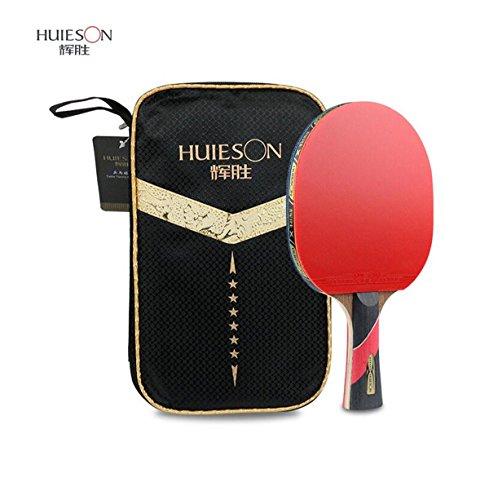 LANFIRE Sterne Tischtennisschläger Profi-Training Doppelseitiger Anti-Kleber Hühnerflügel Holz Tischtennisschläger Tischtennisschläger (6 Star)
