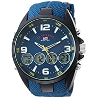 U.S. Polo Assn. Men's Quartz Metal and Rubber Casual Watch, Color:Blue (Model: US9598)