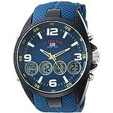 US Polo Association Men's Quartz Metal And Rubber Blue Dial Casual Watch (Model: Us9598)