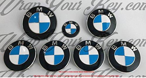 Bianco e Blu scuro Stemma BMW M Sport Overlay Hood Trunk cerchi per tutti BMW X Drive