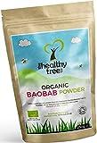 Polvere di Baobab BIO - Alto Contenuto di Fibra, Calcio, Vitamina C e Antiossidanti - Ottimo sulle Minestre e nei Frullati - Pura Superfrutta Baobab in Polvere Bio di TheHealthyTree Company
