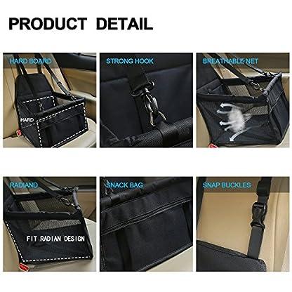 Aandyou Pet Car Booster Seat Breathable Waterproof Pet Dog Car Supplies Travel Pet Car Carrier Bag Seat Protector Cover… 4
