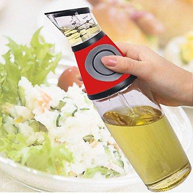 "Price comparison product image MEICHEN 500ml Measurable Oil Dispenser,  Glass W11.2"" x L3.6"" x H3.6"""