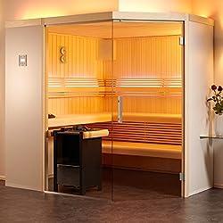 Infraworld Sauna Aurora Premium 210 X 210 Cm Elementsauna 391035 Hemlockhemlock - 3 Glaselemente