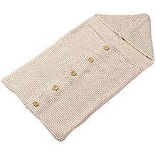 originaltree bebé niños botón de punto ganchillo manta Swaddle muselina Saco de dormir