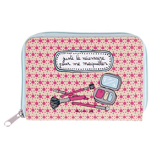 Trousse à pinceaux de maquillage DOR (garnie) Le nécessaire - rose - Derrière la porte