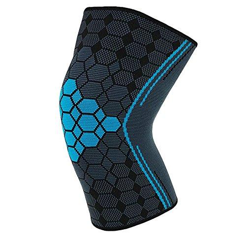 SOFIT Kniebandage Kompression Für Arthrose und Knieschmerzen, Knieunterstützung Bei Fitness, Gewichtheben, Joggen, 3D Atmungsaktive Knieschoner Für Damen und Männer (M, Blue)