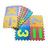 Vovotrade 16Pcs Bebé dibujos animados dígito símbolo rompecabezas espuma