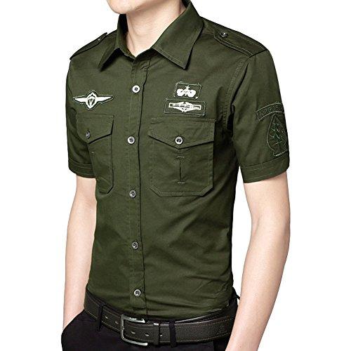 Newbestyle Frühling Herbst Knöpfe Shirt Herren Lang- und Kurzarm Hemd Slim fit Streetwear (2x22 Shirt 24)