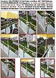 Für Schirmstöcke 25,5 - 50 mm Ø - 2 Stück - DISTANZ SCHIRMHALTER für BALKONGELÄNDER für Außen oder Innen Befestigung mit 6 + 11 cm Abstands Schirmhalter - Holly patentiert - für BEFESTIGUNG an runden oder eckigen Elementen bis 55 mm mit der 5 - fach verstellbare MULTI - Halterung 360 ° - INNOVATIONEN MADE in GERMANY - holly mobiler Sonnenschutz-mobile sunshade holly ® -