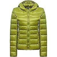 WJP mujeres ultra ligero de la chaqueta poco voluminoso abajo Outwear amortiguar por la chaqueta W-1364