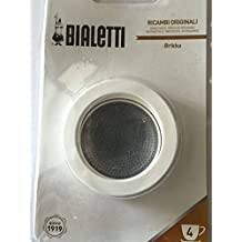 Bialetti–Brikka 4Cup 3Silicona gaskets, Filter Plate Blister